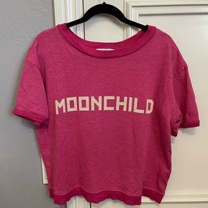 Wildfox Hot Pink Moonchild Terry Cloth T-Shirt
